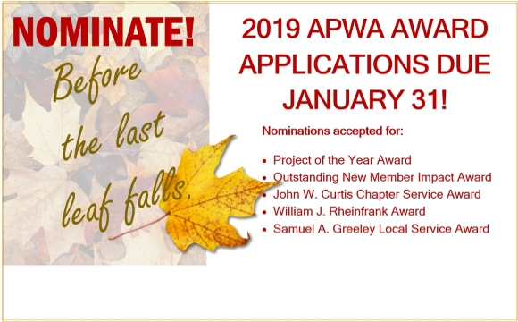 Nominations due January 31, 2019!